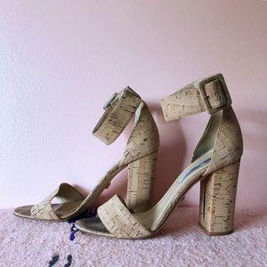 Diane von Furstenberg Cork Heeled Sandals